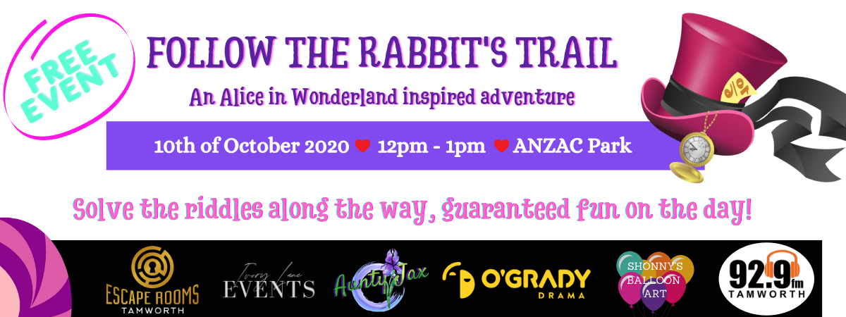 Follow the Rabbits Trail, Escape Rooms Tamworth, Tamworth NSW, Things to do in Tamworth